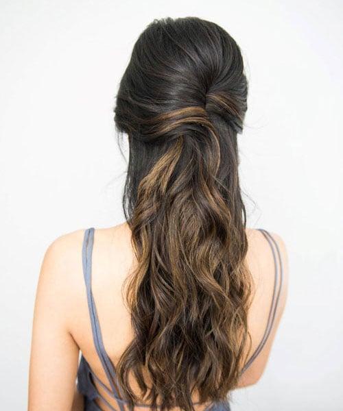 Bridesmaid Hair Down