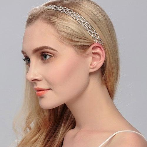 Bridesmaid Hair Tucked Behind The Ear