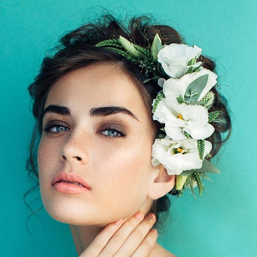 Bridesmaid Updos with Flowers
