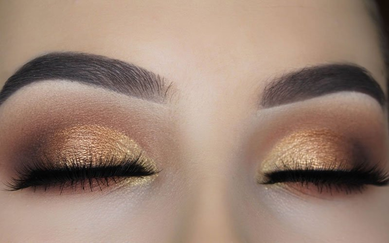 Bronze Eyeshadow Blue Eyes