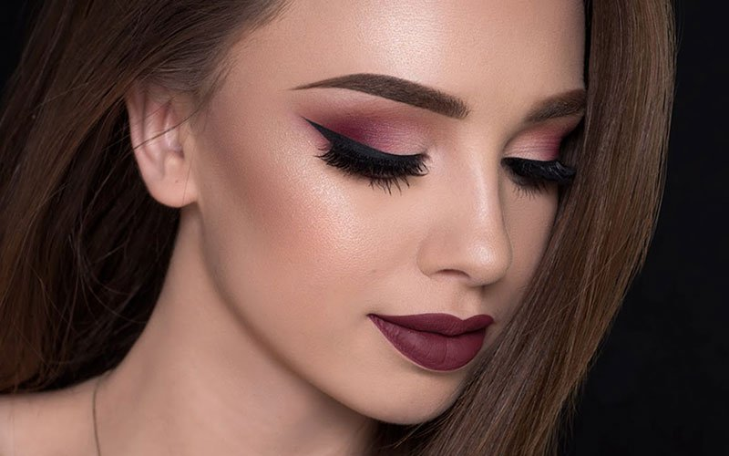 Burgundy Eyeshadow Blue Eyes