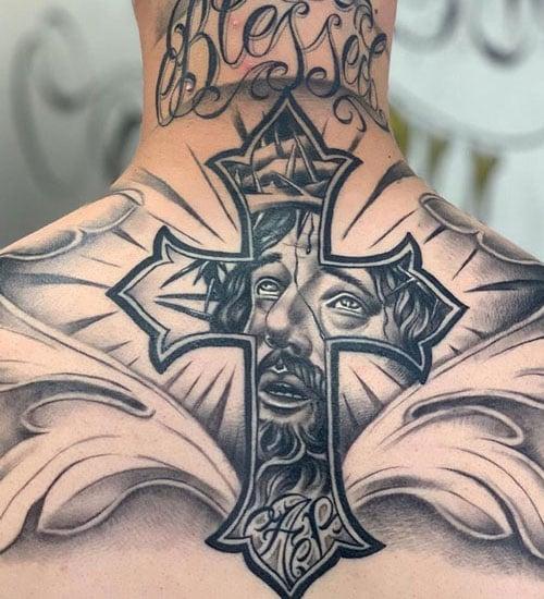 Christian Back Tattoo