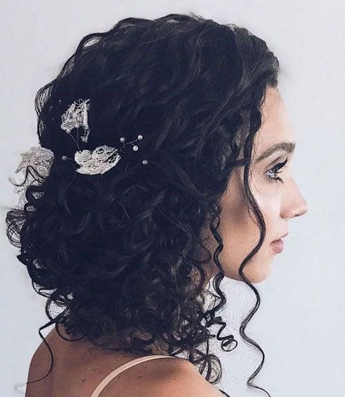 Curly Bridesmaid Hair