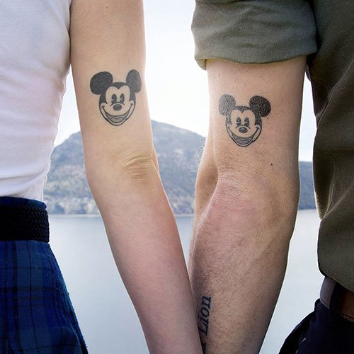 Disney Couple Tattoo