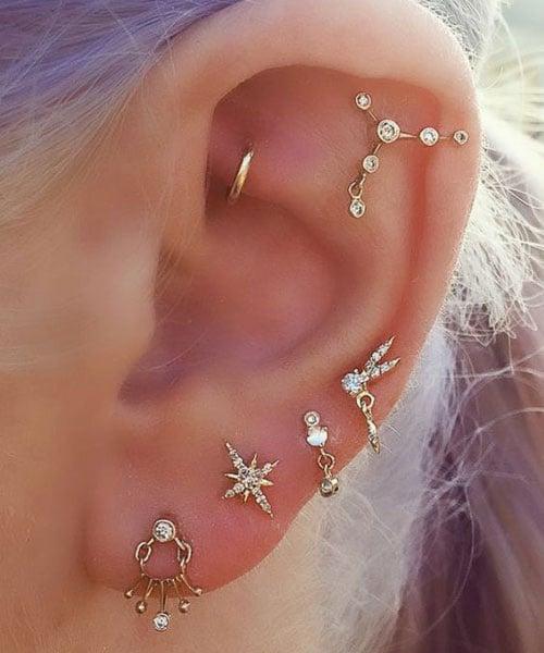 Full Cartilage Ear Piercing