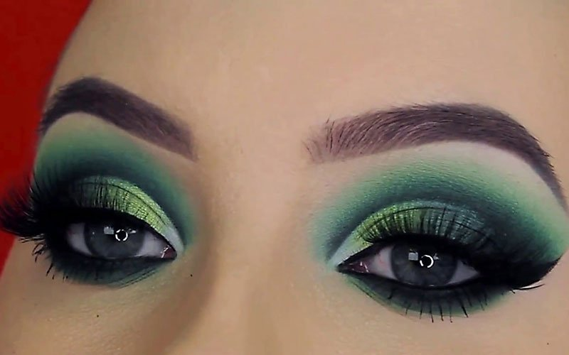 Green Eyeshadow Blue Eyes