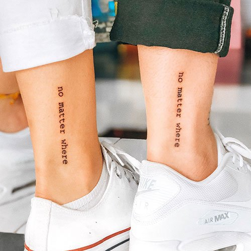 Love Quotes For Matching Couple Tattoos