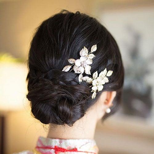 Low Bun Bridesmaid Hairstyles