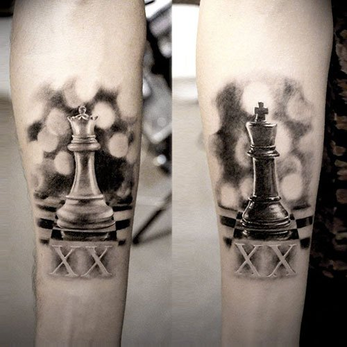 Matching King and Queen Tattoos