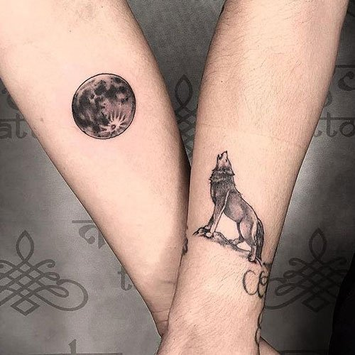 Matching Meaningful Couple Tattoos