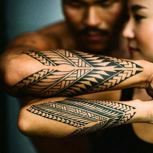 Matching Tribal Tattoos For Couples