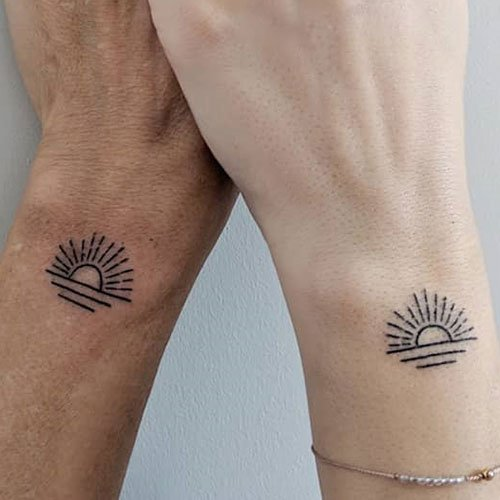 Matching Wrist Tattoos