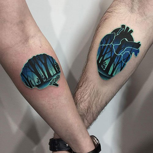 Nerdy Couple Tattoos