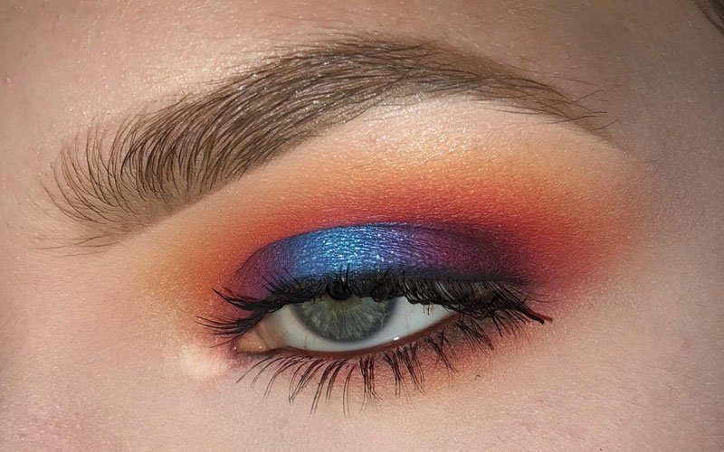 Orange Eyeshadow Blue Eyes