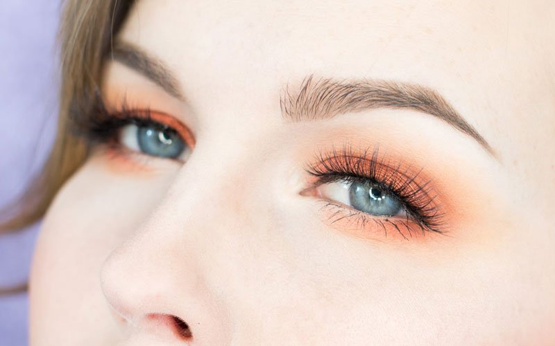 Orange Eyeshadow Ideas For Blue Eyes