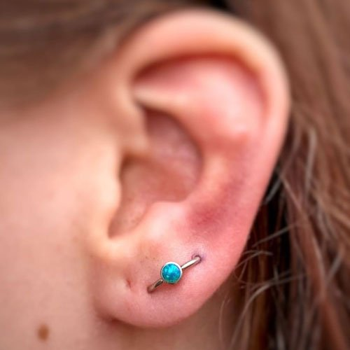 Orbital Ear Lobe Piercing
