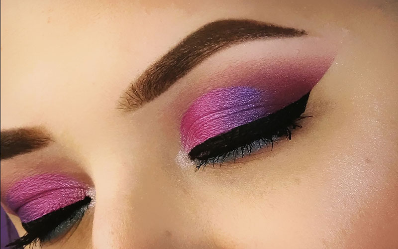 Pink Eyeshadow Looks For Blue Eyes