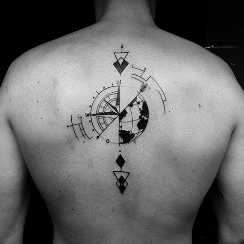 Simple Back Tattoos For Men