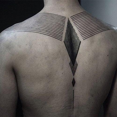 Simple Upper Back Tattoos