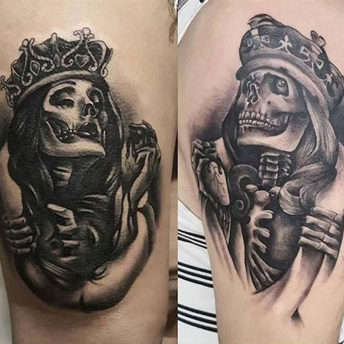 Skull Couple Tattoos