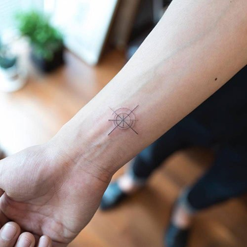 Small Compass Tattoos For Women