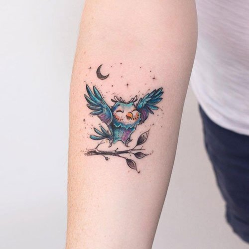 Small Owl Tattoos