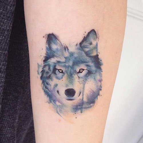 Small Wolf Tattoos