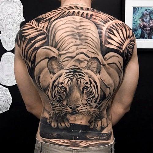 Tiger Back Tattoo