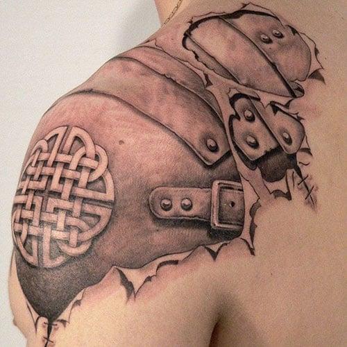 Upper Back Shoulder Tattoo