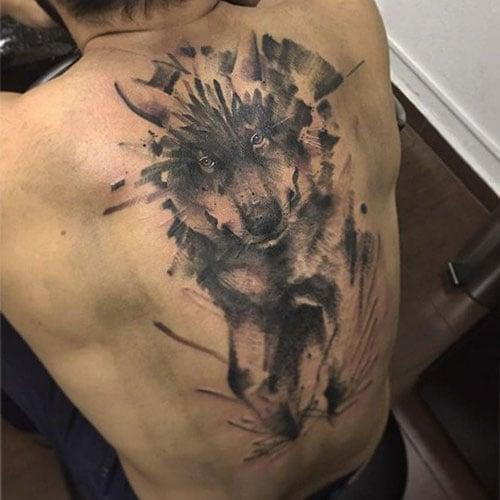 Wolf Back Tattoo Ideas