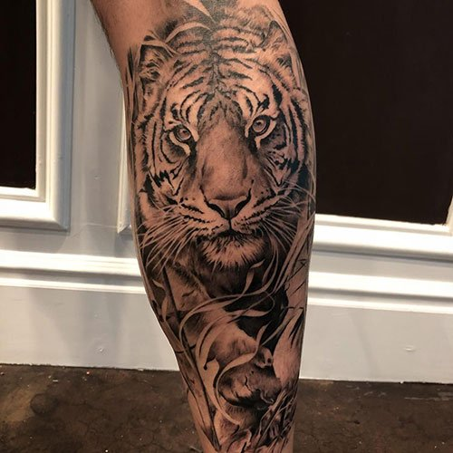 Awesome Back of Leg Tattoos