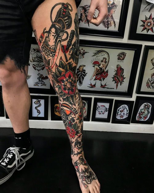 Cool Leg Sleeve Tattoo Ideas For Men