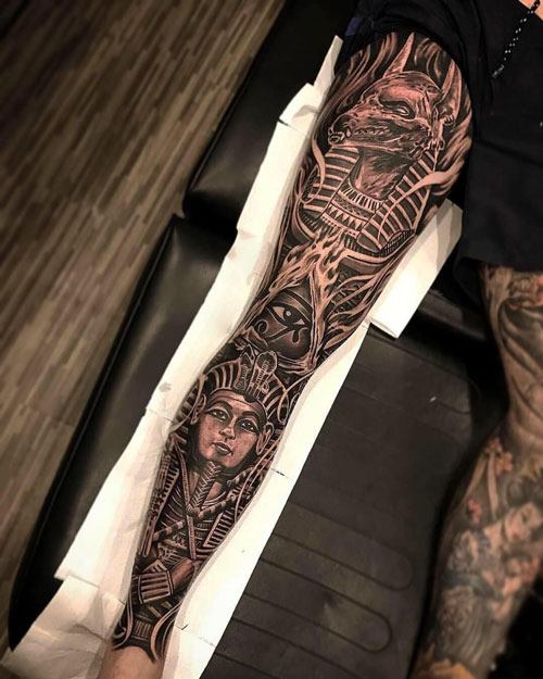 Cool Leg Sleeve Tattoo Ideas