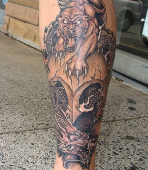 Dragon Calf Tattoo