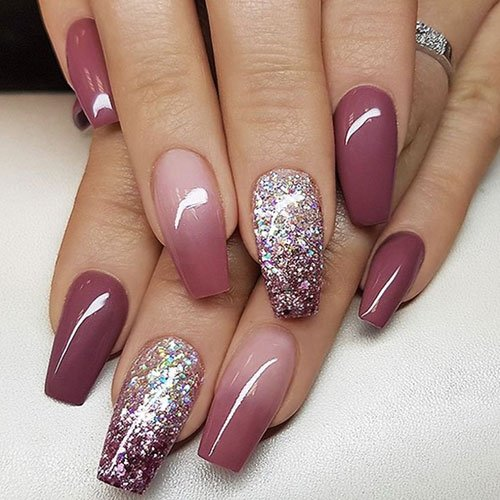 Fall Blush Ombre Nails