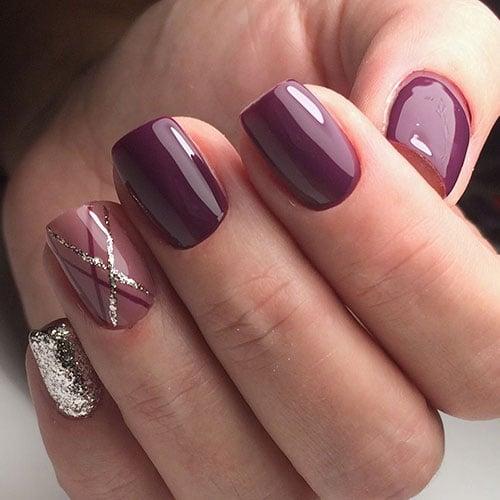 Fall Purple Nails