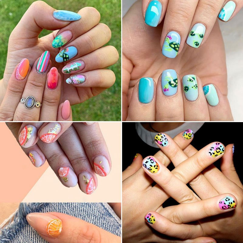 Graphic Art Summer Nails