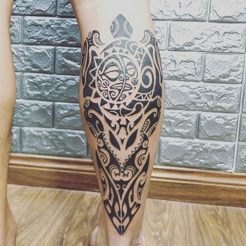Hawaiian Leg Tattoo