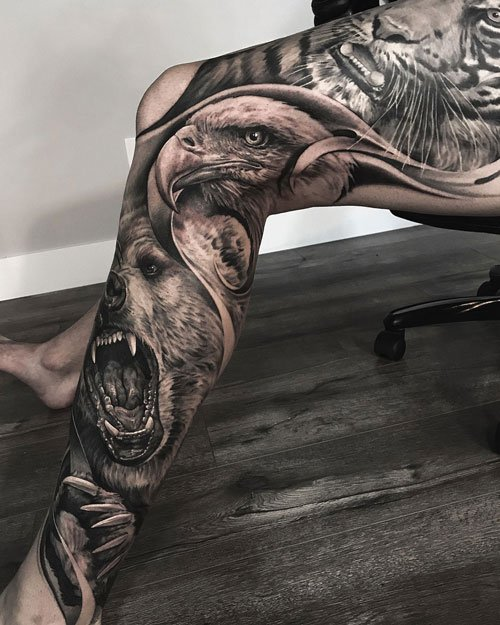 Leg Sleeve Tattoos For Men