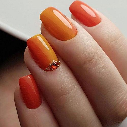 Orange Fall Nails