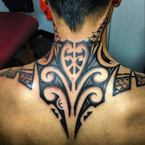 Shoulder and Neck Tribal Tattoos