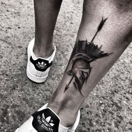 Small Leg Tattoos For Men