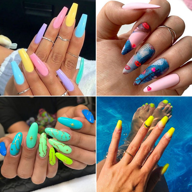 Summer Acrylic Nail Designs and Ideas