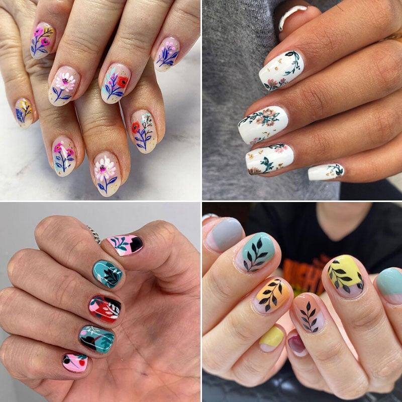 Summer Floral Nail Ideas