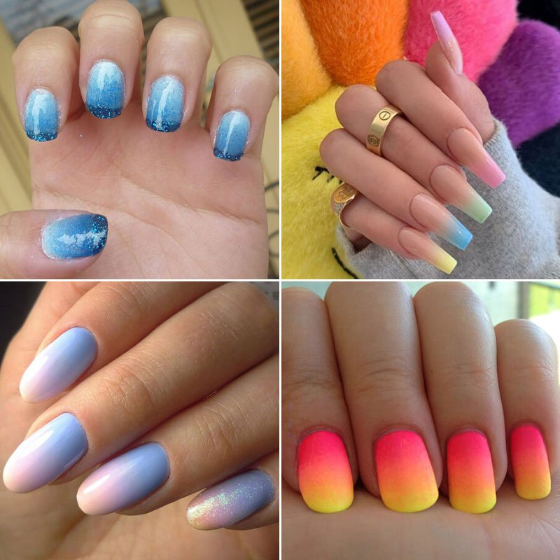 Summer Ombre Nails