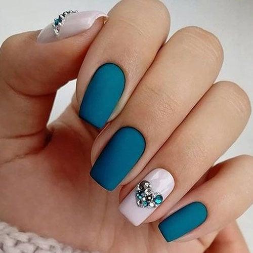Teal Nail Polish Designs