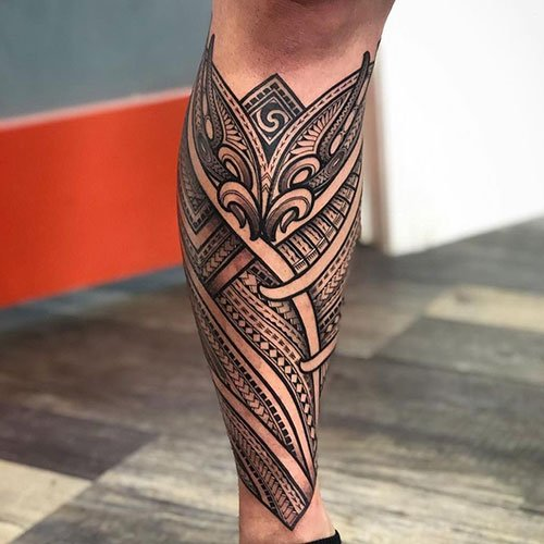 Tribal Leg Tattoos For Men