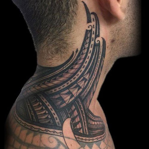 Tribal Neck Tattoo Designs