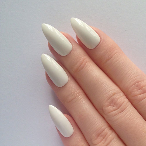 White Fall Nails