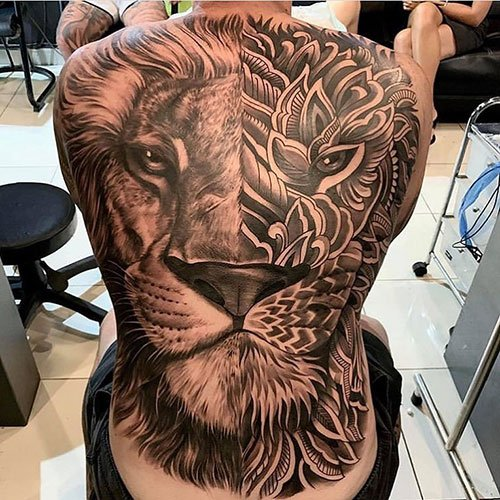 Lion Face Tattoo